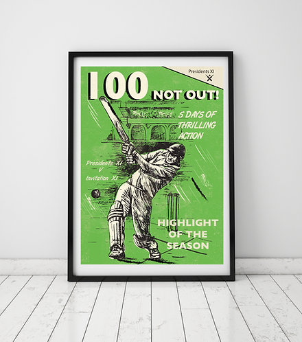 PACK of 2 100 Not Out! Print