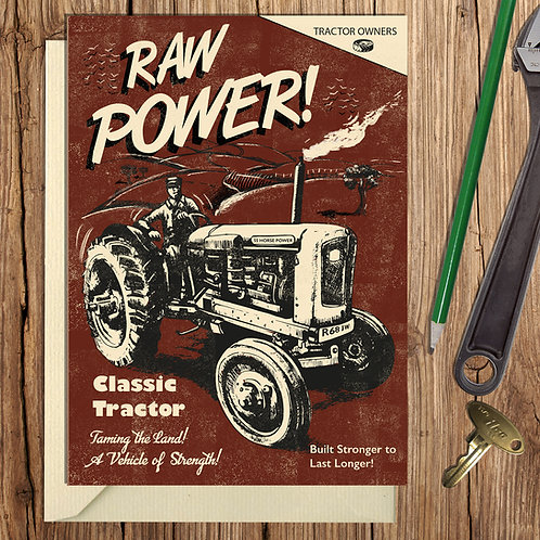 PACK of 6 Raw Power Card