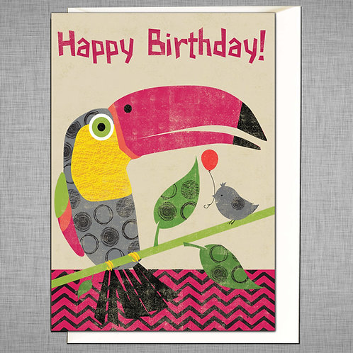 PACK of 6 Toucan Birthday Card