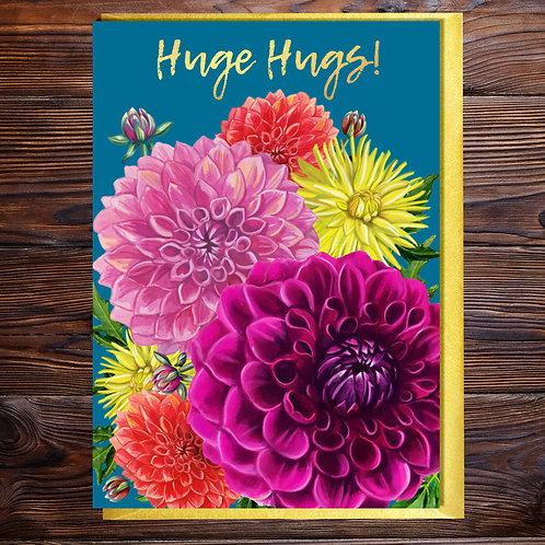 Hugs Dahlia Blank Card