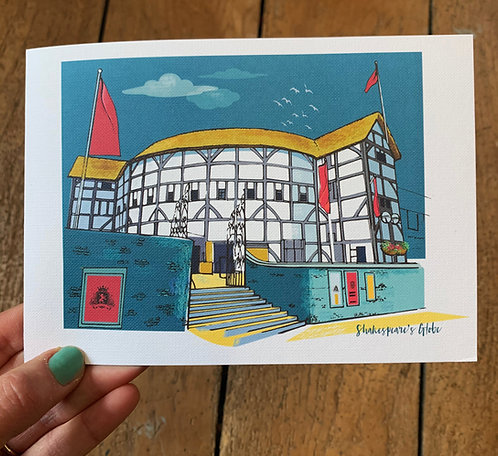 PACK of 6 Shakespeare's Globe London Card
