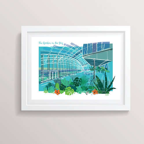 PACK of 2 The Garden in the Sky Print