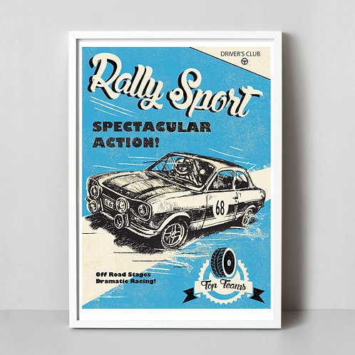 PACK of 2 Rally Sport Print