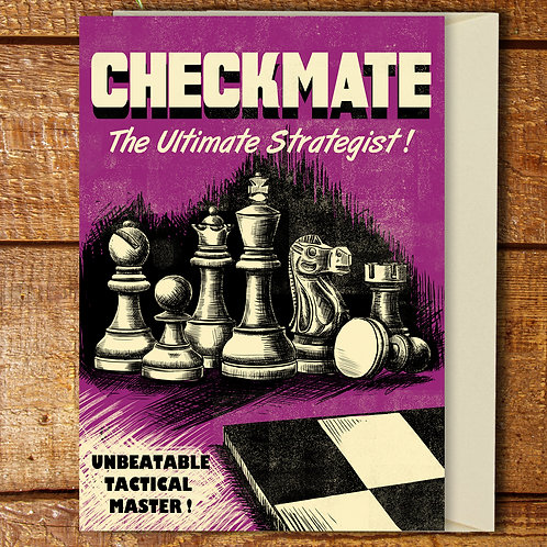 PACK of 6 Chess Card