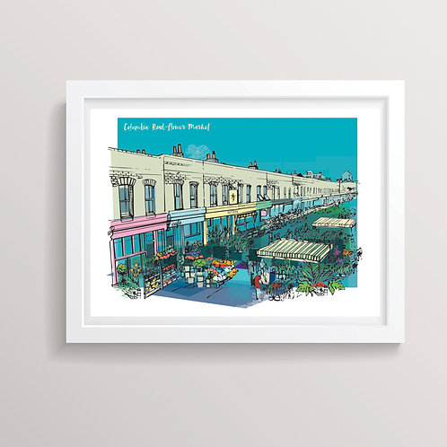 Columbia Road Flower Market Print