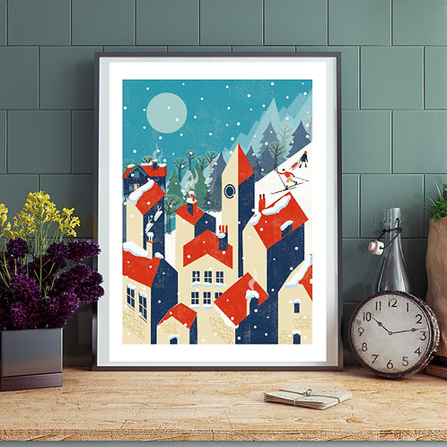 Winter Village Print