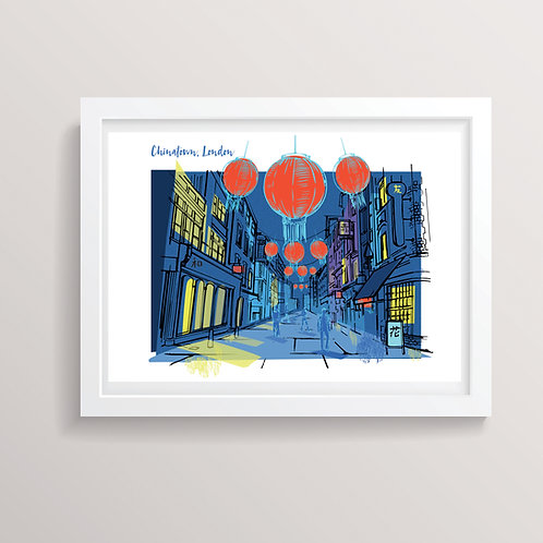 PACK of 2 Chinatown London Print