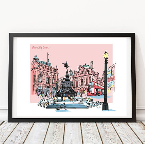 PACK of 2 Piccadilly Circus Print