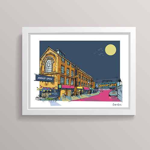PACK of 2 Camden London Prints