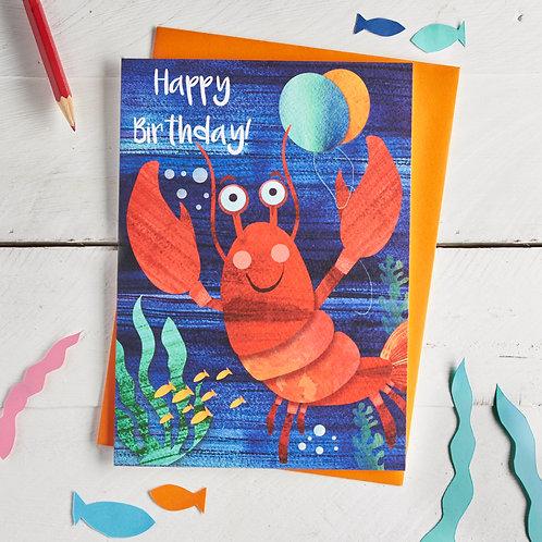 Lobster Happy Birthday Card