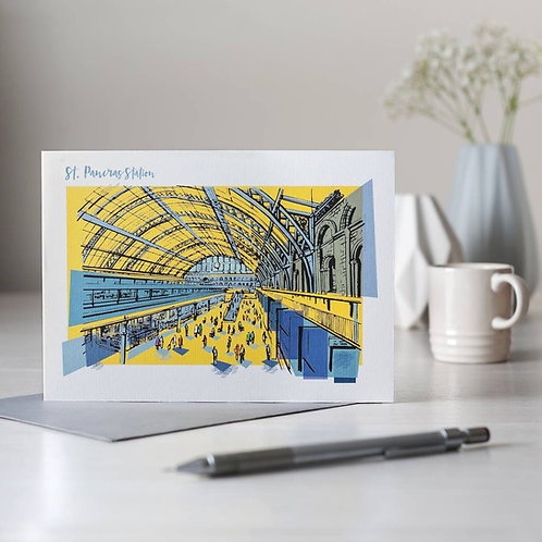 PACK of 6 St Pancras Station Card