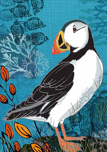 PACK of 6 Puffin Greetings Card
