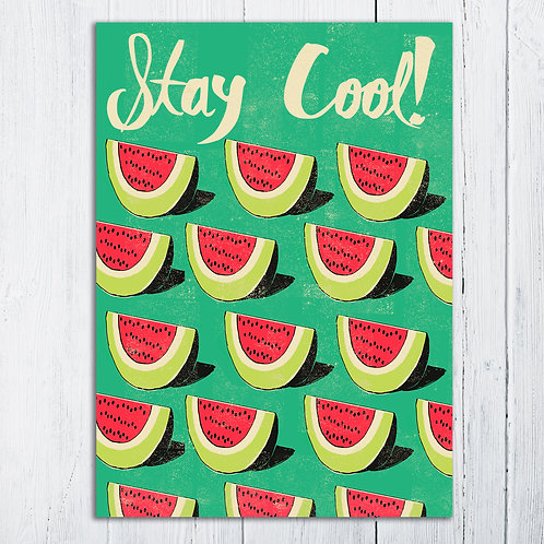 PACK of 6 Stay Cool Card