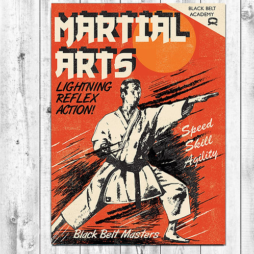 PACK of 6 Martial Arts Card