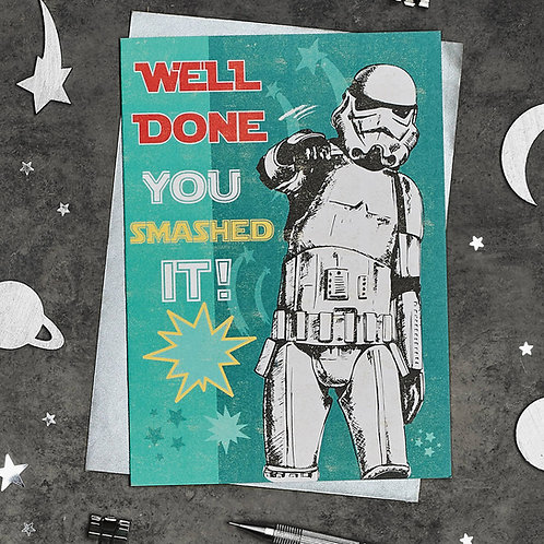 Well Done Stormtrooper Greetings Card
