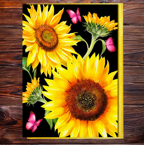 PACK of 6 Sunflower  Blank with Gold Accents