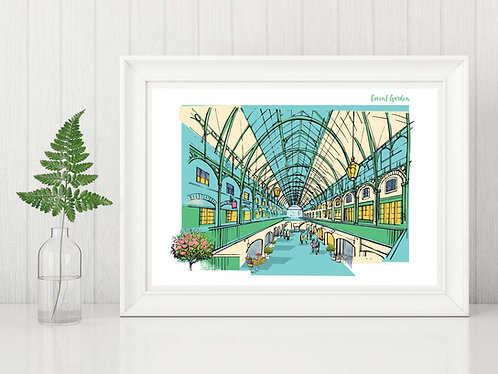 PACK of 2 Covent Garden Print