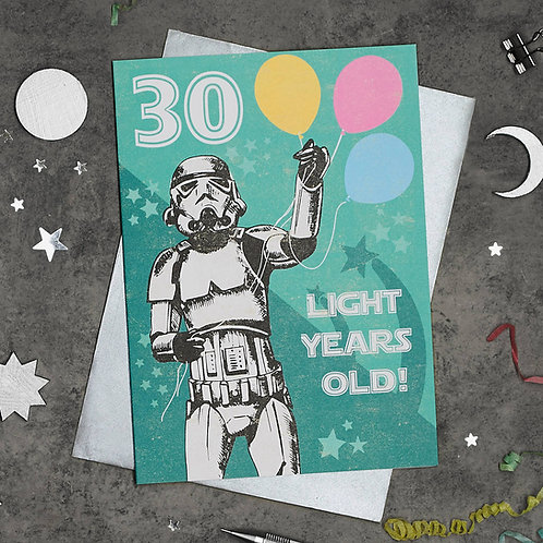 Stormtrooper 30th Birthday Card