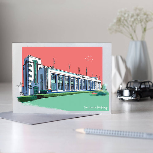 PACK of 6 Hoover Building Card