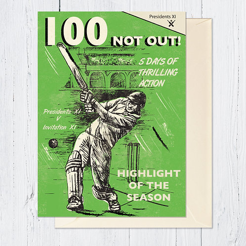 PACK of 6 100 Not Out Card