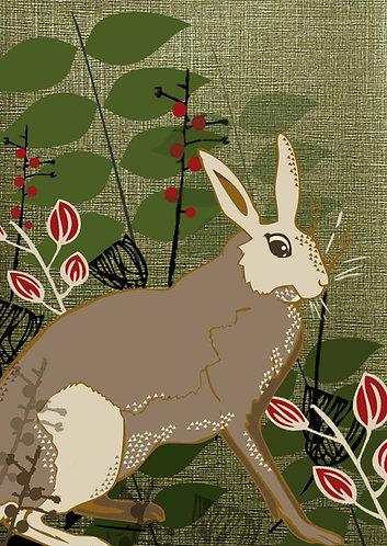 Hare Greetings Card
