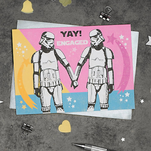 PACK of 6 Stormtrooper Engagement Card