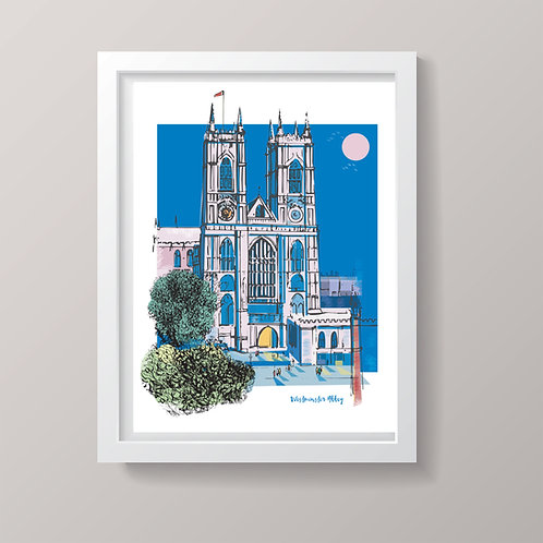 PACK of 2 Westminster Abbey London Print