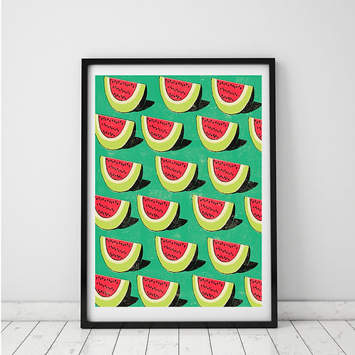 PACK of 2 Watermelon Print