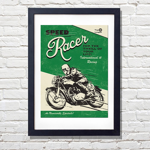 PACK of 2 Speed Racer Print