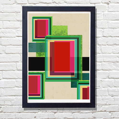 PACK of 2 Neon Geometrical Print
