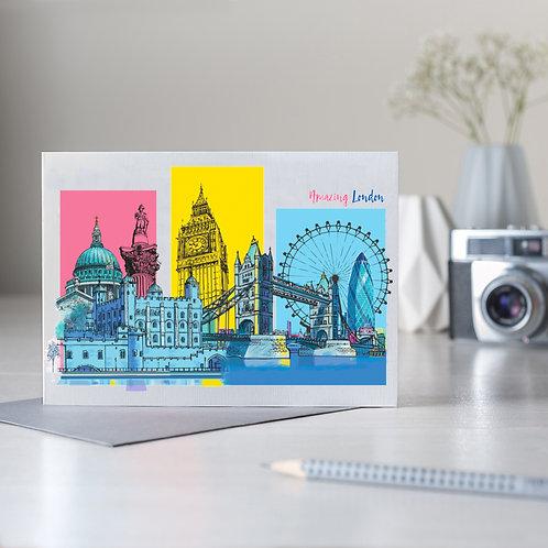 PACK of 6 Amazing London Skyline card