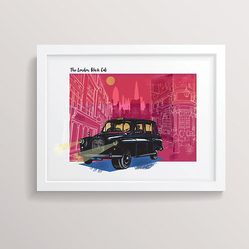The London Black Cab Print