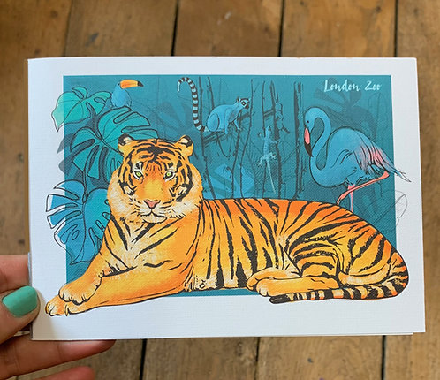 London Zoo Blank Card