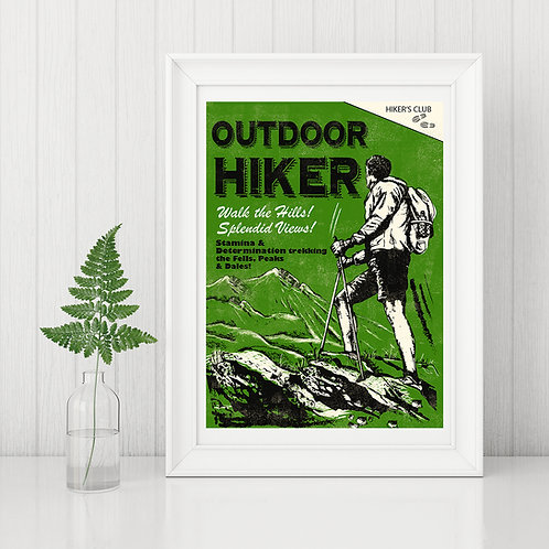 Outdoor Hiker Print