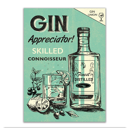 PACK of 6 Gin Card