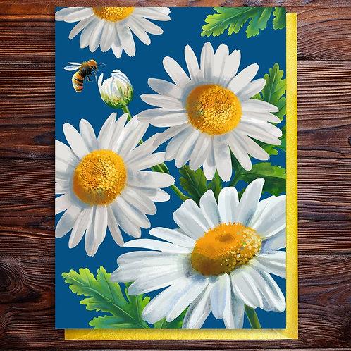 PACK of 6 Daisy Flower Birthday Blank Card
