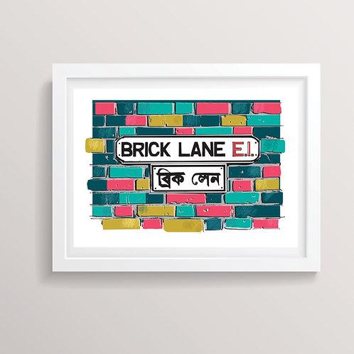 PACK of 2 Brick Lane Art Print
