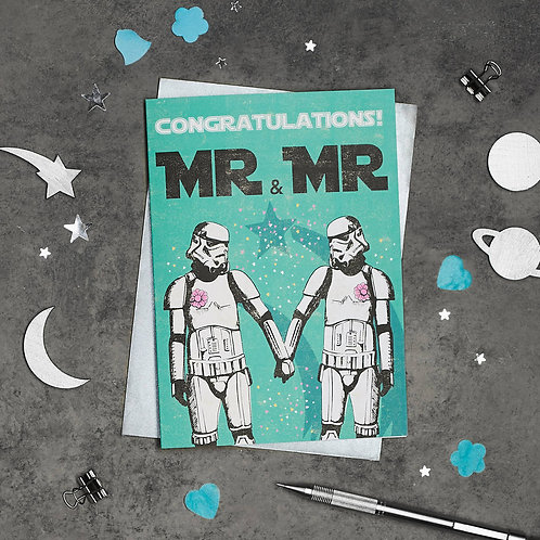 Stormtrooper Mr and Mr Wedding Card