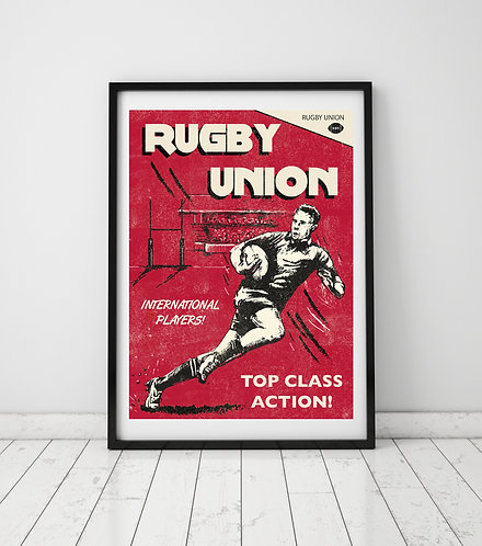 PACK of 2 Rugby Union Print