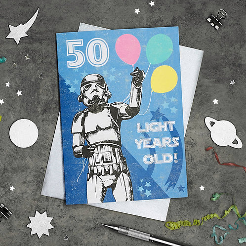 Stormtrooper 50th Birthday Card