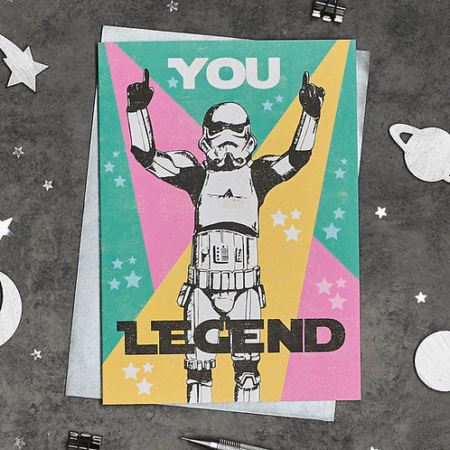 PACK of 6 YOU LEGEND! Birthday Card