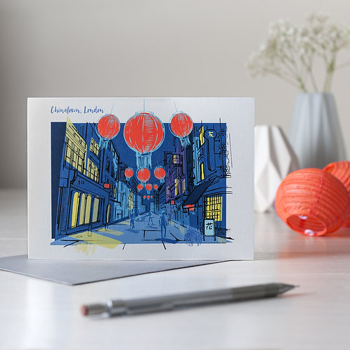 PACK of 6 Chinatown, London Card