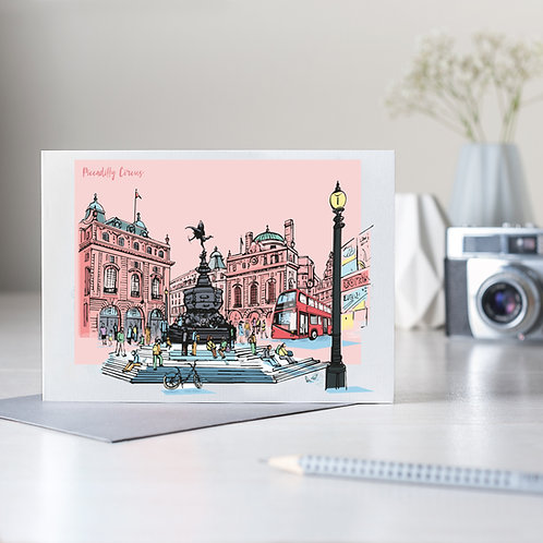 PACK of 6 Piccadilly Circus Card