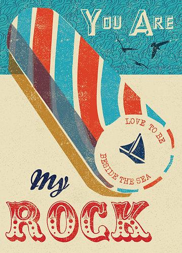 PACK of 6 Seaside Rock Card