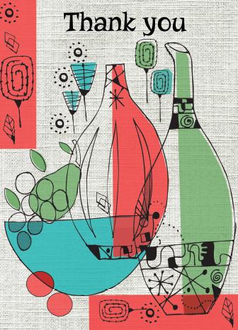 PACK of 6 Modernist Vase Card