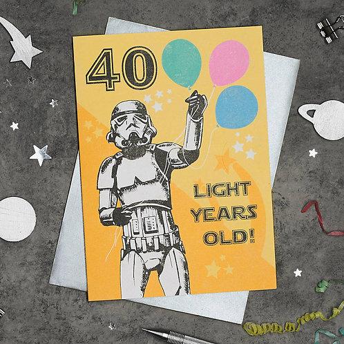 Stormtrooper 40th Birthday Card