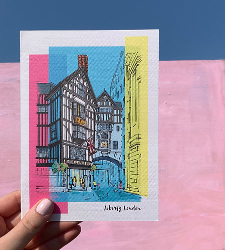 PACK of 6 Liberty London Card