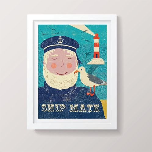 PACK of 2 Ship Mate Print