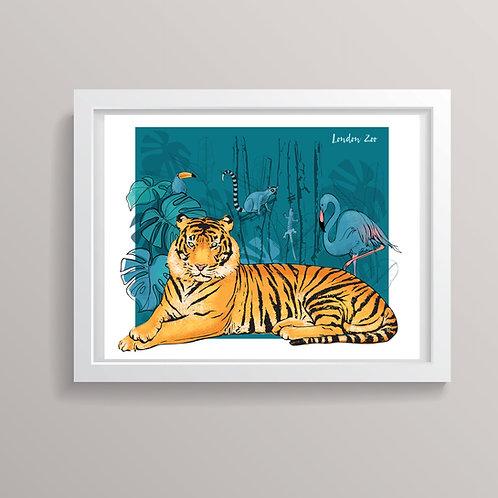 London Zoo Art Print