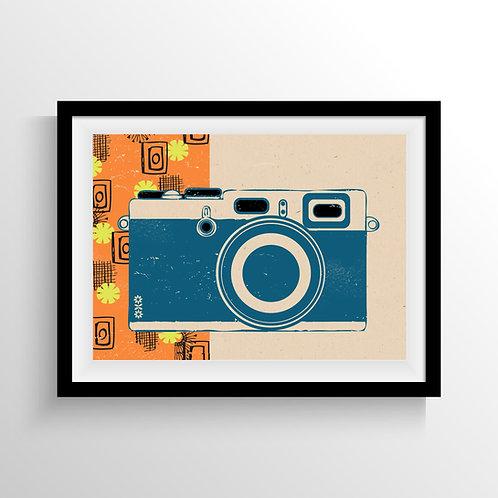 PACK of 2 Retro Camera Print